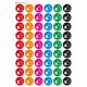 Naklejki lajki (kolorowe tło)