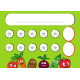 Karta na naklejki gwiazdki i warzywa