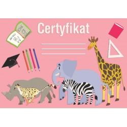 Certyfikat zwierzęta afrykańskie (polski)