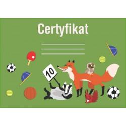 Certyfikat zwierzęta leśne (polski)